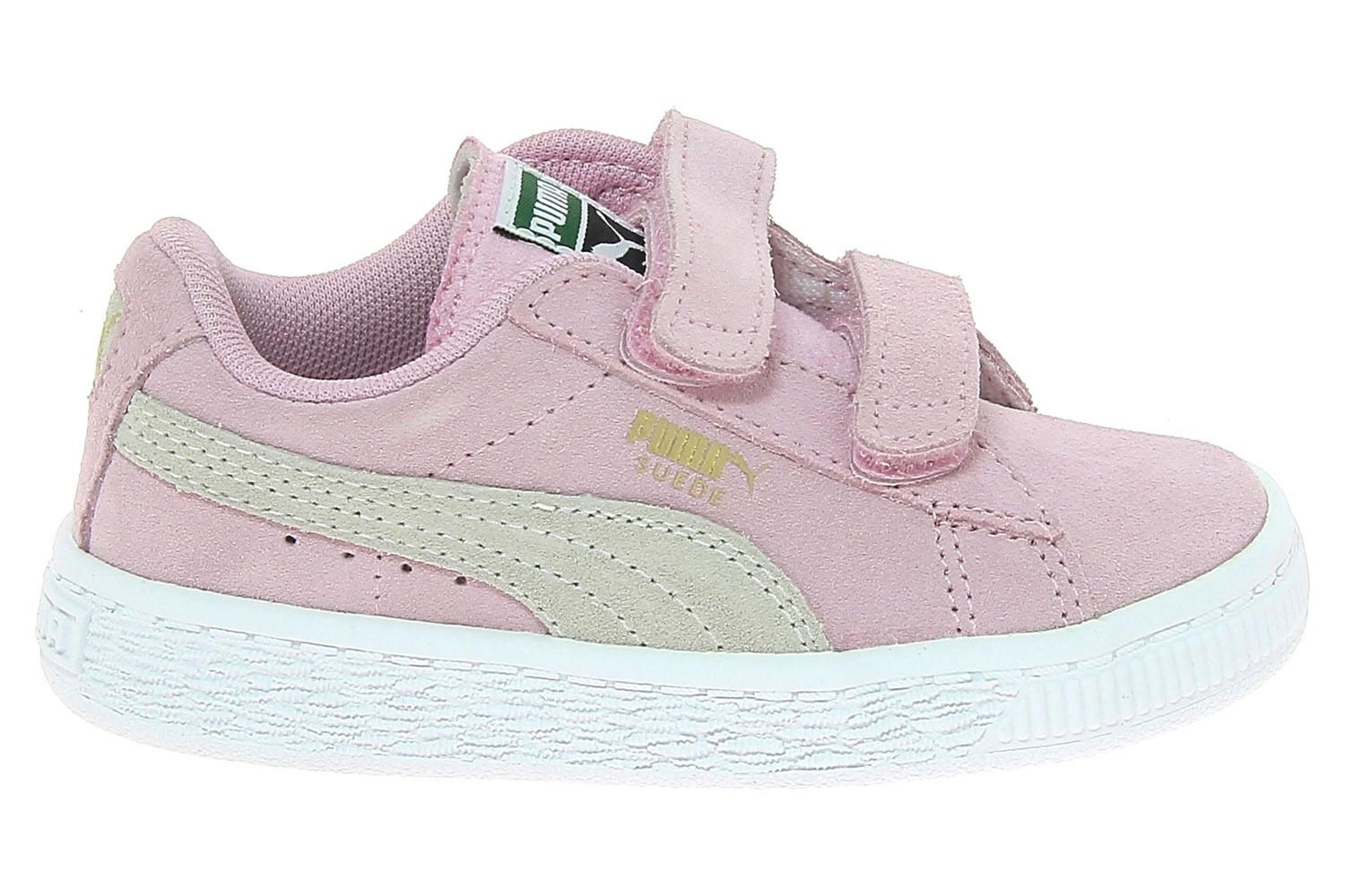 Chaussures de skate puma rose suede 2 straps inf chaussures