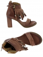 nu-pieds style ville as98 515008-201 marron