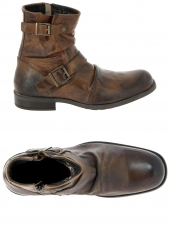 boots base london metal marron