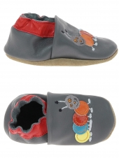chaussures layette bellamy coccinelle-chenille gris
