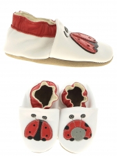 chaussures layette bellamy coccinelle blanc