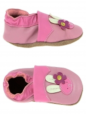 chaussures layette bellamy lapinette rose