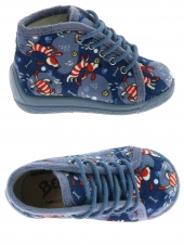 pantoufles montantes bellamy magic bleu