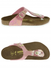 mules birkenstock gizeh shiny s pink rose