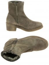 chaussures montantes fourrees bryan stepwise 14.005 paris taupe