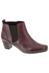 bottines ville caprice 25337-549 h bordeaux