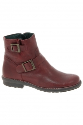 bottines casual chacal 3523 rouge