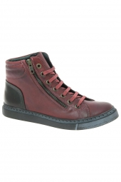 bottines casual chacal 3567 rouge
