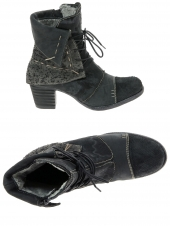 chaussures montantes fourrees charme 5587 noir