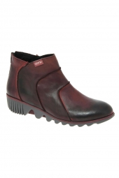 bottines casual clamp abilena rouge