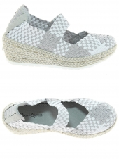 chaussures en toile coco abricot v0885a argent