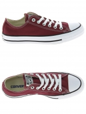chaussures en toile converse all star ox bordeaux
