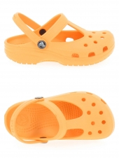 sabots en plastique crocs candace girls orange
