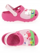 sabots en plastique crocs kid hello kitty rose