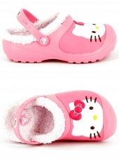 sabots fourres crocs hello kitty rose