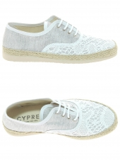 chaussures basses en toile cypres 50013-0075-cecinaban blanc