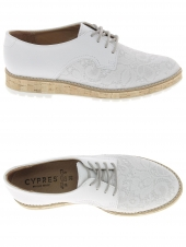 chaussures plates cypres 515-7041 ivy01 blanc