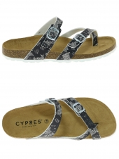 mules cypres 0468. argent