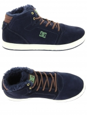 boots fourres dc shoes crisis high wnt bleu