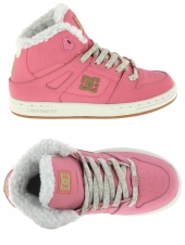 boots fourres dc shoes rebound wnt rose