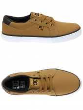 chaussures basses dc shoes council jaune