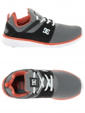 chaussures de skate basses dc shoes heathrow gris