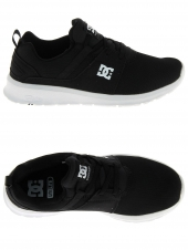 chaussures de skate basses dc shoes heathrow noir