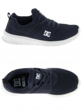 chaussures de skate basses dc shoes heathrow bleu