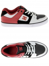 chaussures de skate basses dc shoes pure elastic blanc