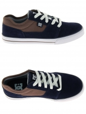 chaussures de skate basses dc shoes tonik bleu