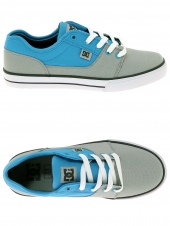 chaussures de skate basses dc shoes tonik tx gris