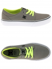 chaussures de skate basses dc shoes trase tx taupe