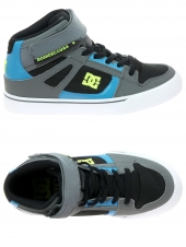 chaussures de skate montantes dc shoes spartan high ev gris
