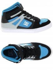 chaussures de skate montantes dc shoes spartan high ev bleu