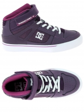 chaussures de skate montantes dc shoes spartan high ev violet