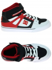 chaussures de skate montantes dc shoes spartan high ev blanc