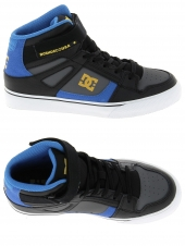 chaussures de skate montantes dc shoes spartan high ev noir