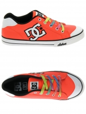 chaussures en toile dc shoes chelsea canvas rose