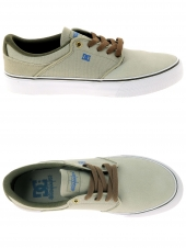 chaussures en toile dc shoes mikey taylor vulc taupe
