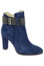 bottines de ville di lauro pr18-01 bleu