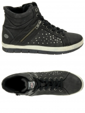 chaussures montantes fourrees dockers 356430-235-001 noir