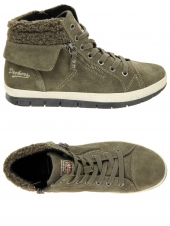 chaussures montantes fourrees dockers 356433-001-013 taupe