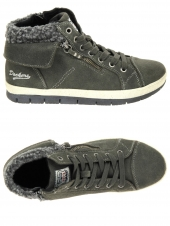 chaussures montantes fourrees dockers 356433-001-024 gris