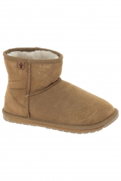 bottes fourrees emu littles-wallaby mini marron