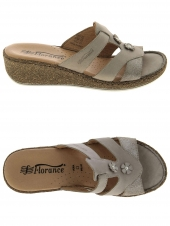 mules florance 22810 taupe