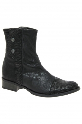 bottines de ville france mode chelem noir