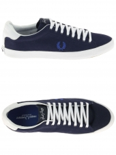 chaussures en toile fred perry howells twill bleu