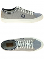 chaussures en toile fred perry kendrick tipped cuff bleu