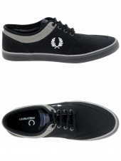 chaussures en toile fred perry stratford canvas noir