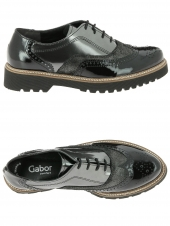 chaussures plates gabor 52.665-87 g gris